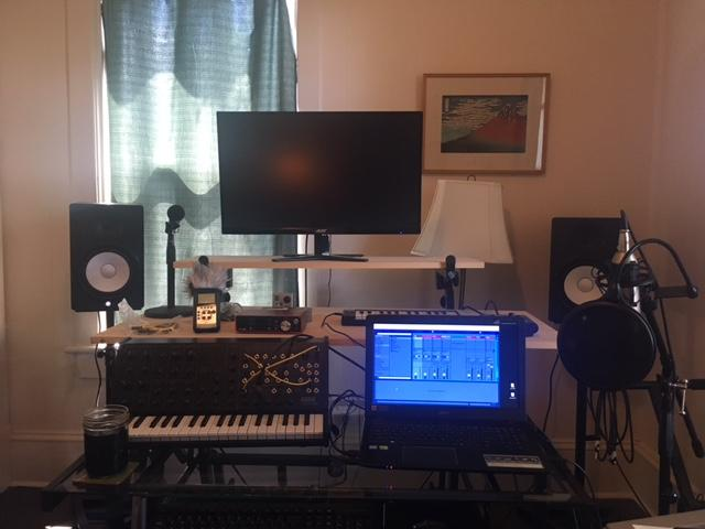 Cook's electronic music station can be taken out of his in-home studio and brought anywhere. No electrical outlets necessary -- Cook powers all his live performances through solar energy.