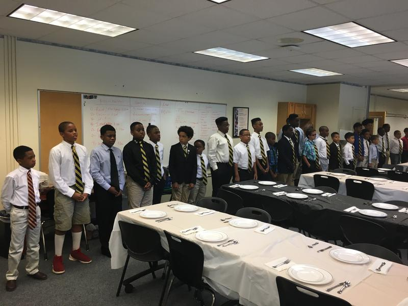 About 30 kids between 5th and 8th grade attended this summer's M-Cubed program, a two-week academy that focuses on lessons relating to Math, Men, and Mission.