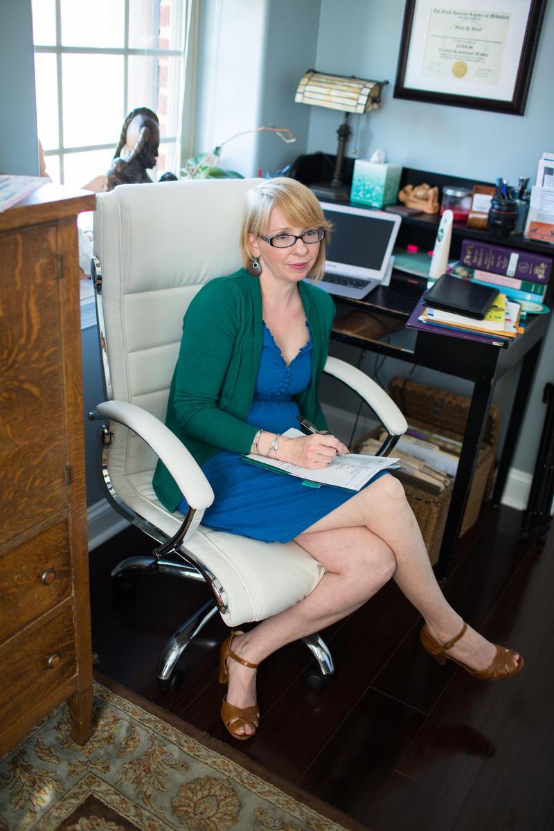 Misty Ward in her office near Harrisonburg.