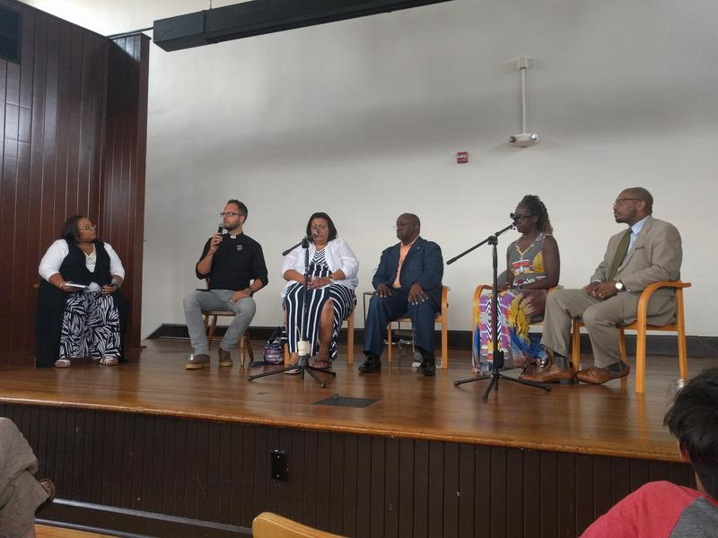 The panel was composed of thought leaders from the Office of Human Rights; the Blue Ribbon Commission on Race, Monuments ad Memorials for the City of Charlottesville; Black Lives Matter; and the Charlottesville Clergy Collective.