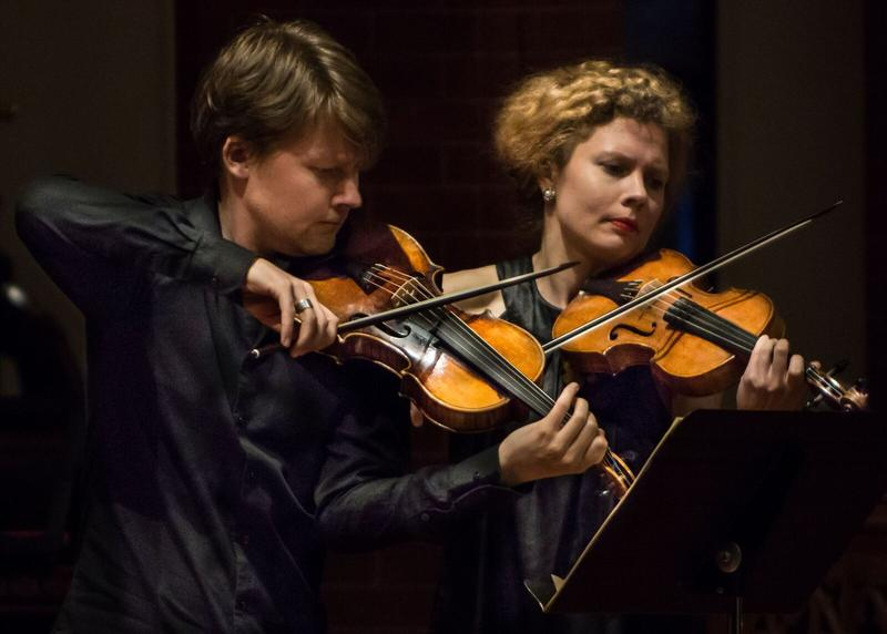 Two Finnish performers at the Staunton Music Festival.