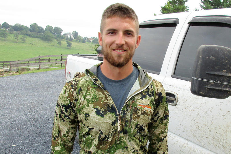 Kurtis Blosser works construction jobs for much of the year, but in the fall months and into January he travels a lot, to Wisconsin, New Jersey, Kentucky, even Mexico, and elsewhere, filming hunts for television hunting shows.
