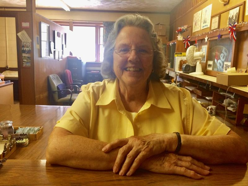Joyce Herndon has been keeping the numbers straight at the Staunton Union Stock Yards - without a computer - for 26 years.