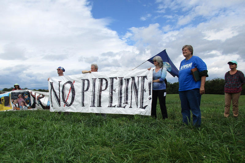 Protesters against the Atlantic Coast Pipeline and Mountain Valley Pipeline.