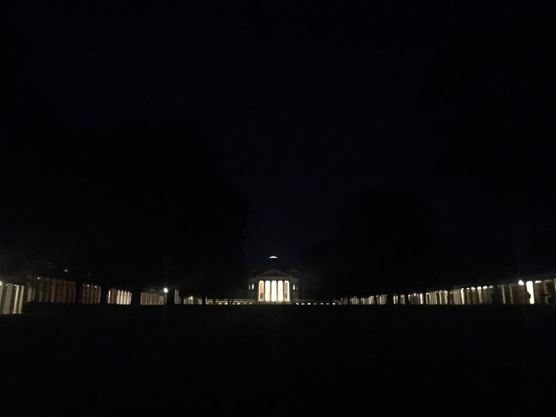 More than 50 people spent the night behind UVA's Pavilion IX during the Slave Dwelling Project's largest ever sleepover.