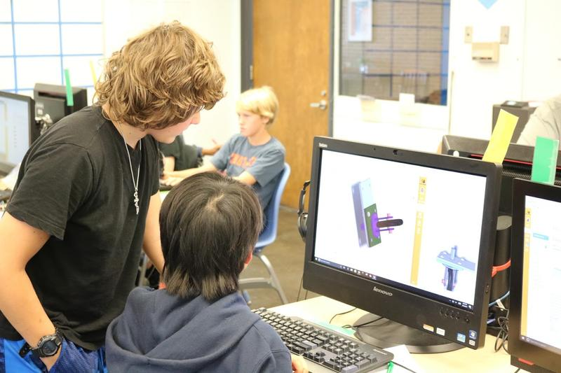 Middle school students at Buford have the opportunity to work on the Solidworks program, a professional design tool used by major engineering companies.