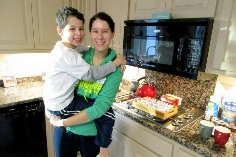 Jeanine and Jonah Wilson in the kitchen of their Rockingham County home, an Airbnb.