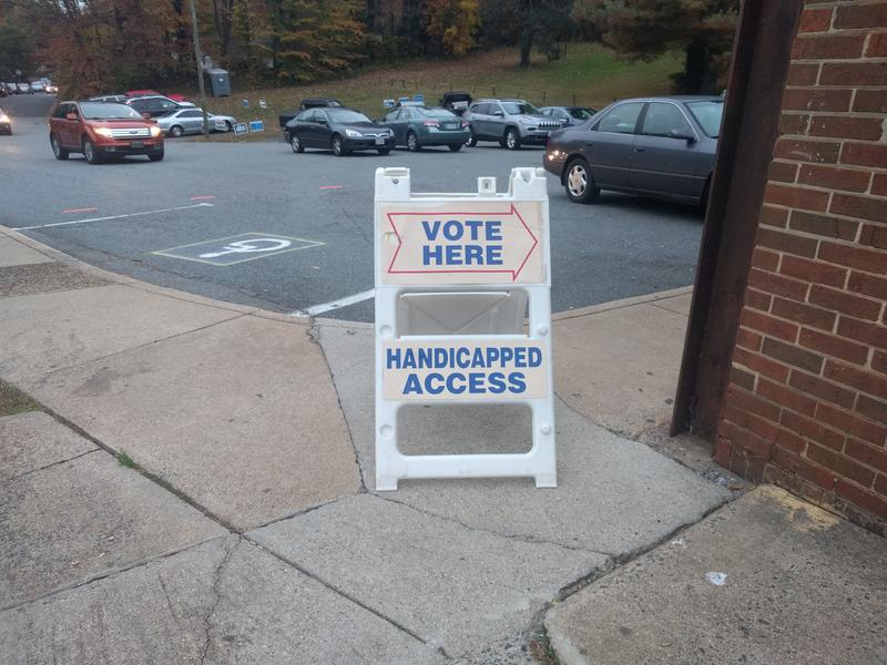 Charlottesville's Walker Upper Elementary School opened its doors to voters of the precinct today until 7 p.m.