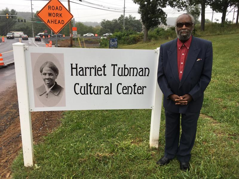Stan Maclin is the founder of the Harriet Tubman Cultural Center, hemmed in by construction on nearby Reservoir St. in Harrisonburg.