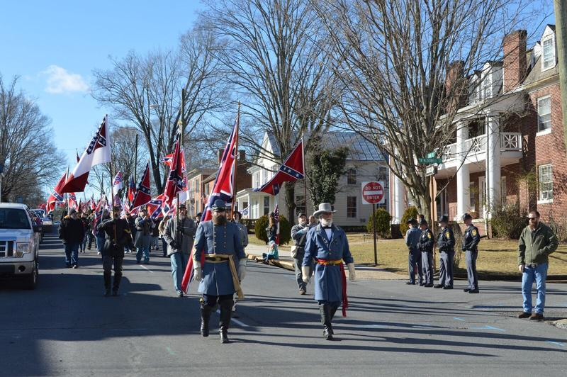 """A note on the Lee-Jackson Day event website urged parade goers to avoid any conflict:  """"We strongly discourage any confrontation which would not be in the spirit of Lee or Jackson, nor Martin Luther King, Jr."""""""