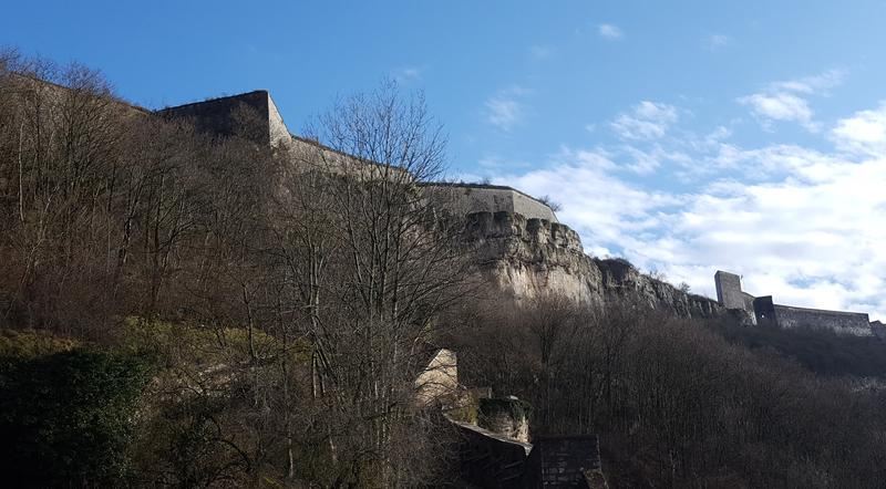The citadel sits on top of a hill overlooking the whole city of Besançon.