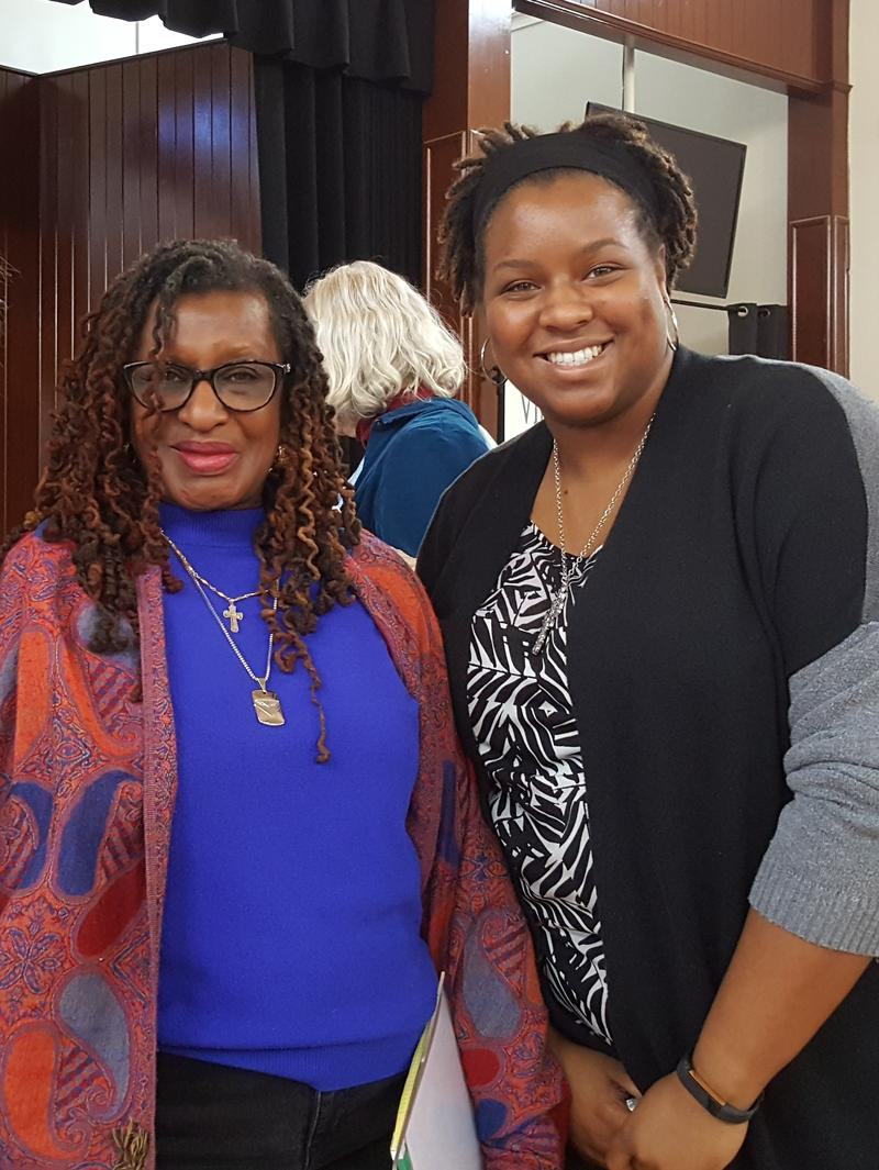 Ruby Boston (left), and Monticello's historian Niya Bates (right) who organized this event.