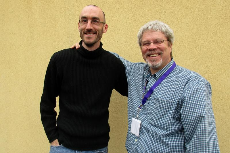 Eric Olson-Getty (left) is the administrative director and Sam Nickels is the executive director at Our Community Place in Harrisonburg.