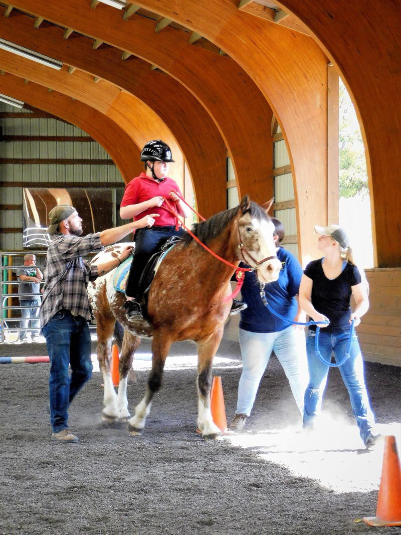 Brady, 13, competed in the Ride with Pride Horse Show on the horse Xavoy last year.