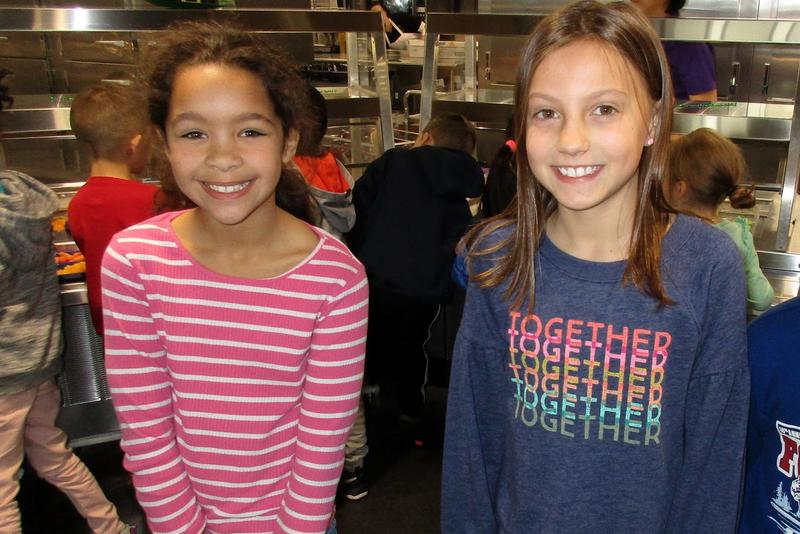 Adelaide Scott (left) and Brynn Smith are Bluestone Elementary third graders who eat vegetables.