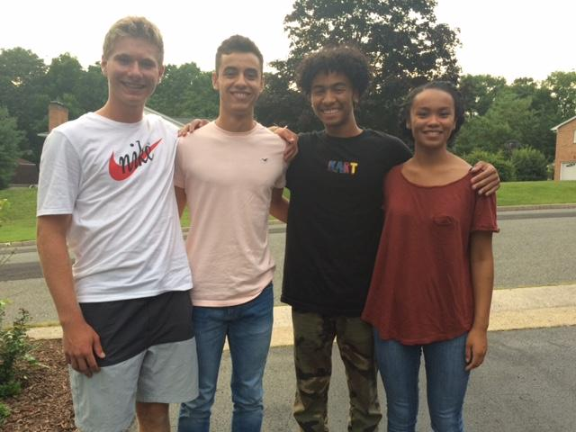 From left, Lee High School seniors Cullen Wallace, Marcos Sasia, Tay Burress and Imani Hankinson.