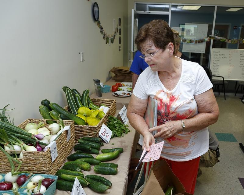 Participants in the Food Farmacy program receive vouchers for free vegetables from the farm stand right on Augusta's campus. The farm stand is open every Tuesday afternoon and is open to the public.