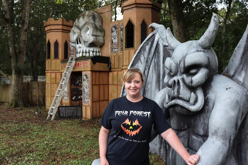 """A lot of people are surprised to meet my husband Chad and myself because we're probably not your typical Halloween enthusiasts,"" said Fear Forest co-owner Brandy Nesselrodt. ""We're very down-to-earth, we're church-going people…."""