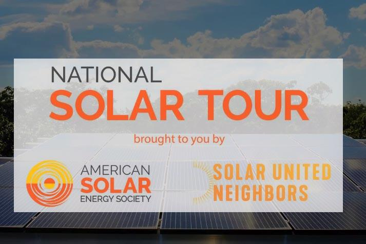 The National Solar Tour this weekend invites people into participating homes and organizations to learn about solar energy.