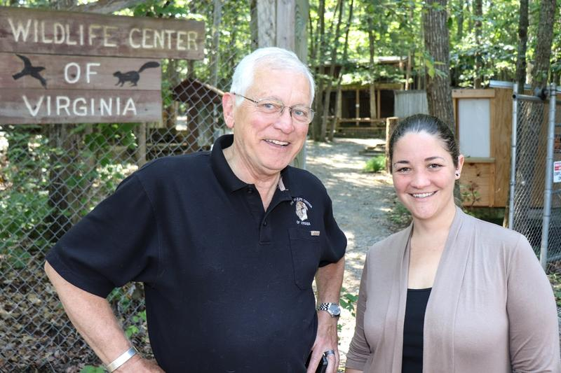Ed Clark, the Wildlife Center of Virginia's president and founder, and Maggie McCartney, the Wildlife Care Academy coordinator.