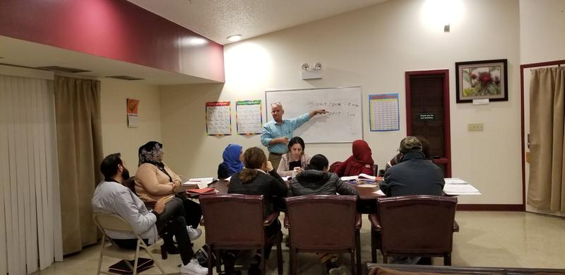 A current citizenship class at Mosby Heights.