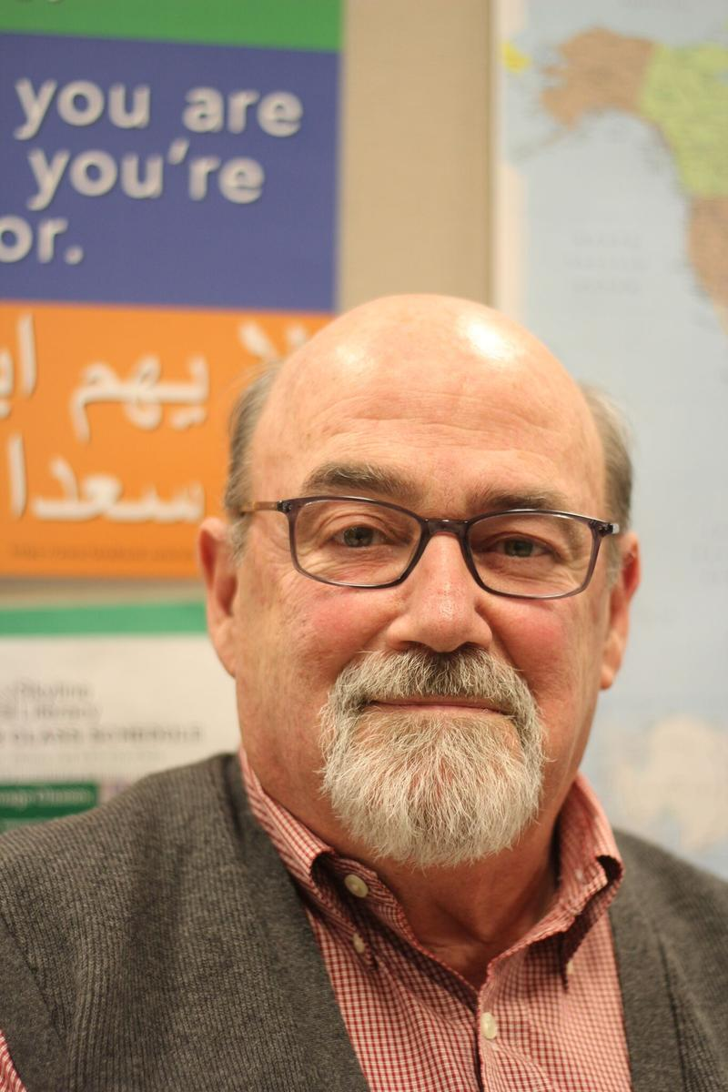 Bill Fisher is the board president of Skyline Literacy, which offers English and citizenship classes to the area's large immigrant and refugee communities.