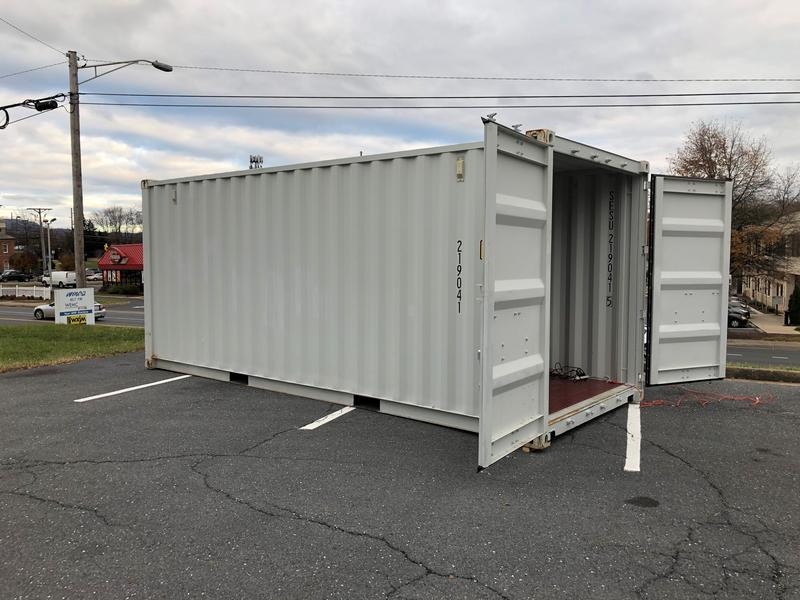 The shipping container that staff from the Suitcase Clinic can use to visit its homeless clients.
