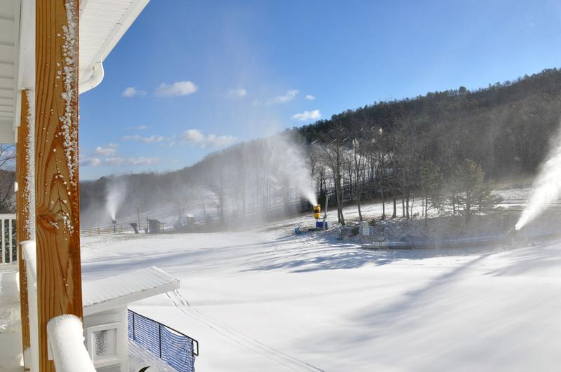 Massanutten, like many other ski resorts, relies increasingly on machines to make snow.
