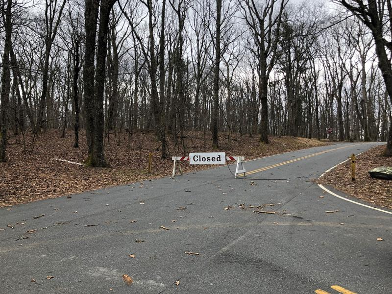 A closed campground at Lewis Mountain in Shenandoah National Park.