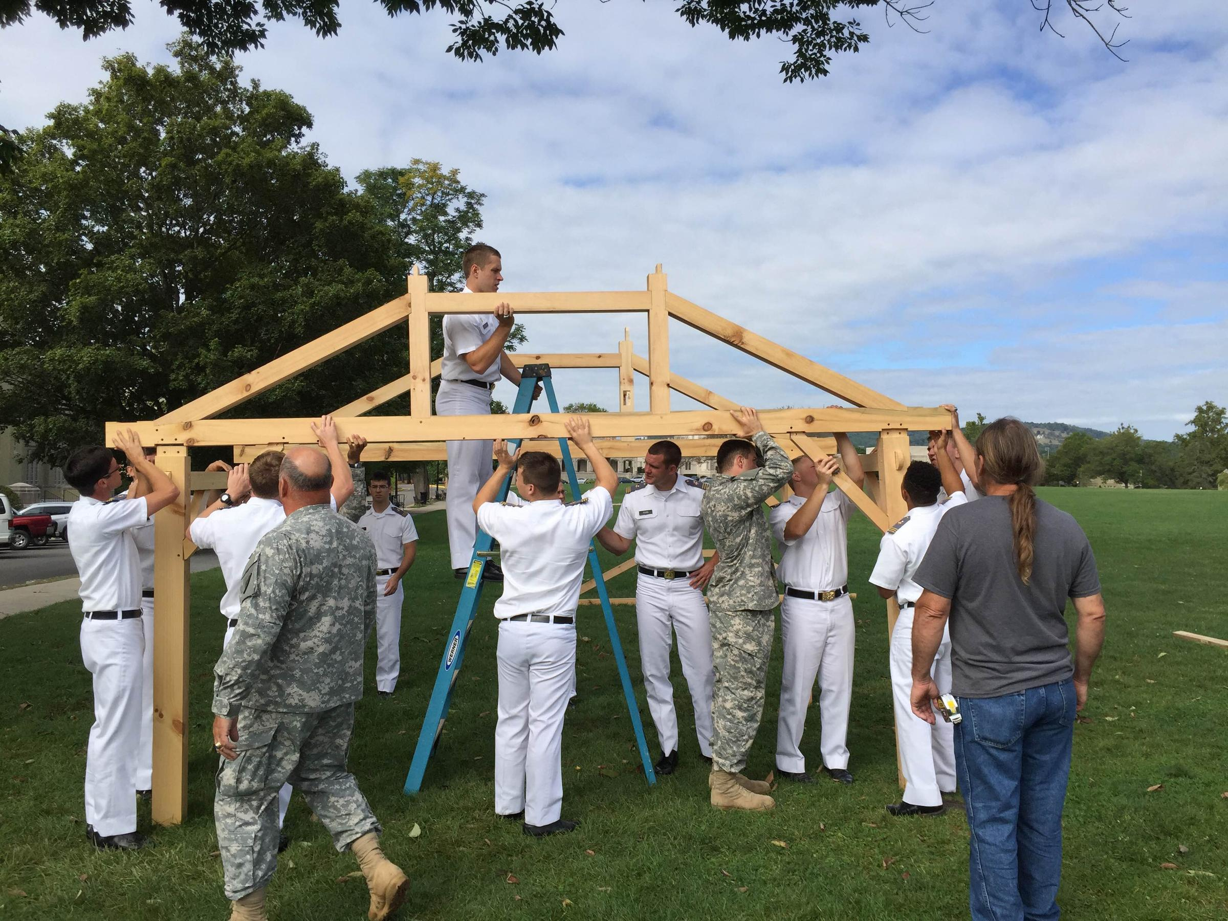 VMI Engineering Teacher Takes Students Back to Timber Framing | WMRA ...