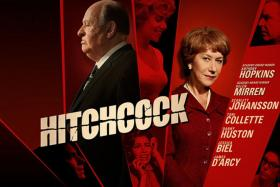 The movie poster for 'Hitchcock'