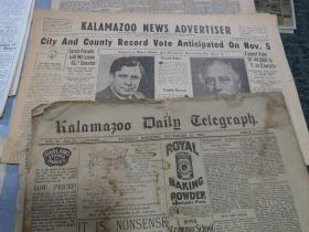 Old newspapers from Kalamazoo