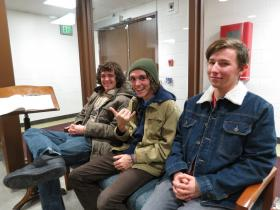 From left to right: Bassist Austin McQuater, guitarist Tanner Boerman, and drummer Ian Howell