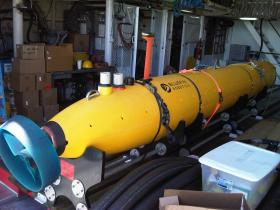 """One of the """"autonomous underwater vehicles"""" used during the 2012 Earhart expedition"""