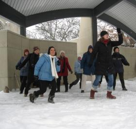Dancers prepare for One Billion Rising event in Kalamazoo on Valentine's Day