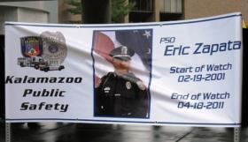 Banner at Zapata's 2011 memorial service