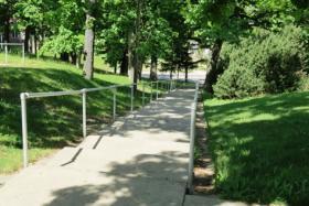 Shady East Campus walkway