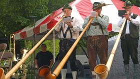 The alphorn players at the Grand Rapids Festival of the Arts, June 2012.