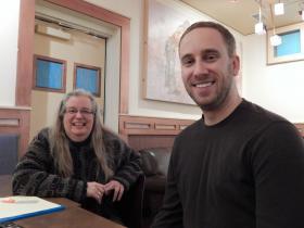 Kathy Jennings and SkySpecs CEO Danny Ellis