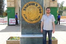 Ben Lando outside the Baghdad Zoo