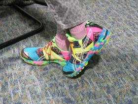 Kerlikowske's shoes reflect her vibrant personality
