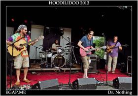 The band performs at the 2013 Hoodlidoo Festival. Hoffman says that this festival, and Bell's Brewery, have been one of their goals to play.