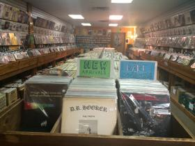 The inventory at The Corner Record Shop, located off of West Main, is compact and plentiful.