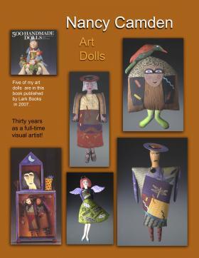 Nancy Camden's fabric art dolls