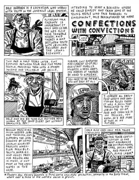 A comic on Confections with Convictions from the Coop Scoop
