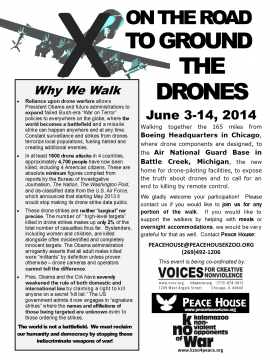Anti-drone march poster