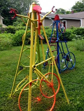 The Edison neighborhood bike towers