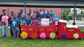 The Northside neighborhood Literacy Train