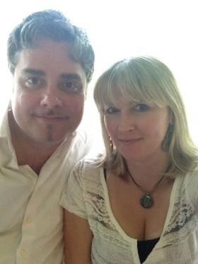 Chicago poets Larry Sawyer and Lina Vitkauskas