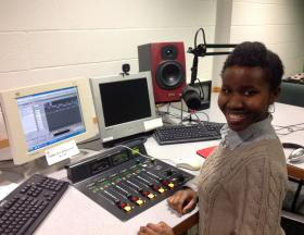 Erin Williams in the WMUK studio